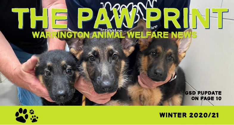 Warrington Animal Welfare newsletter Paw Print